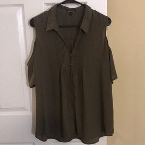 EXPRESS || Green Top|| Size Large